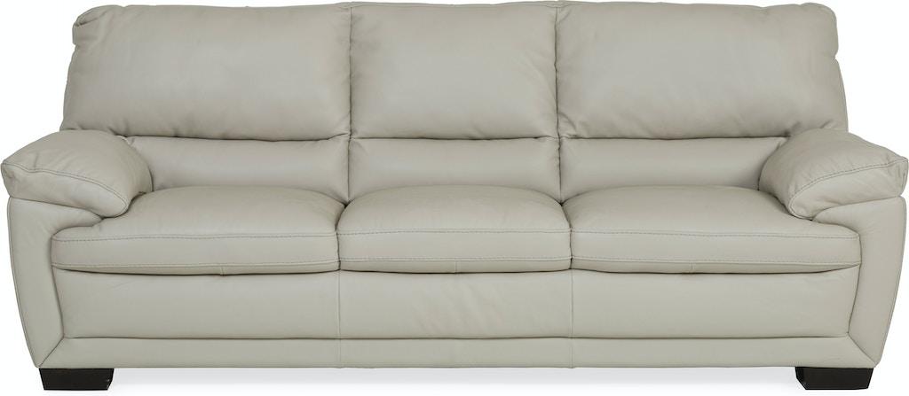 Denver Leather Sofa Ivory Smoke St 341192