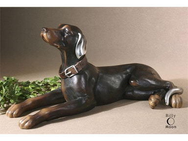 Resting Dog Statue