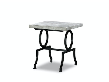 Roca Blanca Rectangle End Table