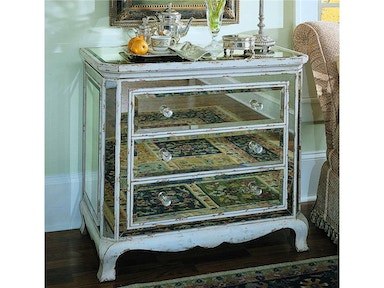 Three-Drawer French Mirrored Chest
