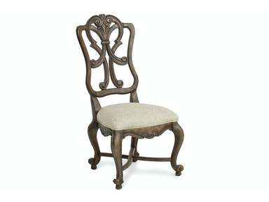 Rhapsody Carved Wood-Back Side Chair
