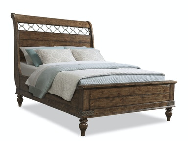 Southern Pines Whispering Pines Queen Sleigh Bed