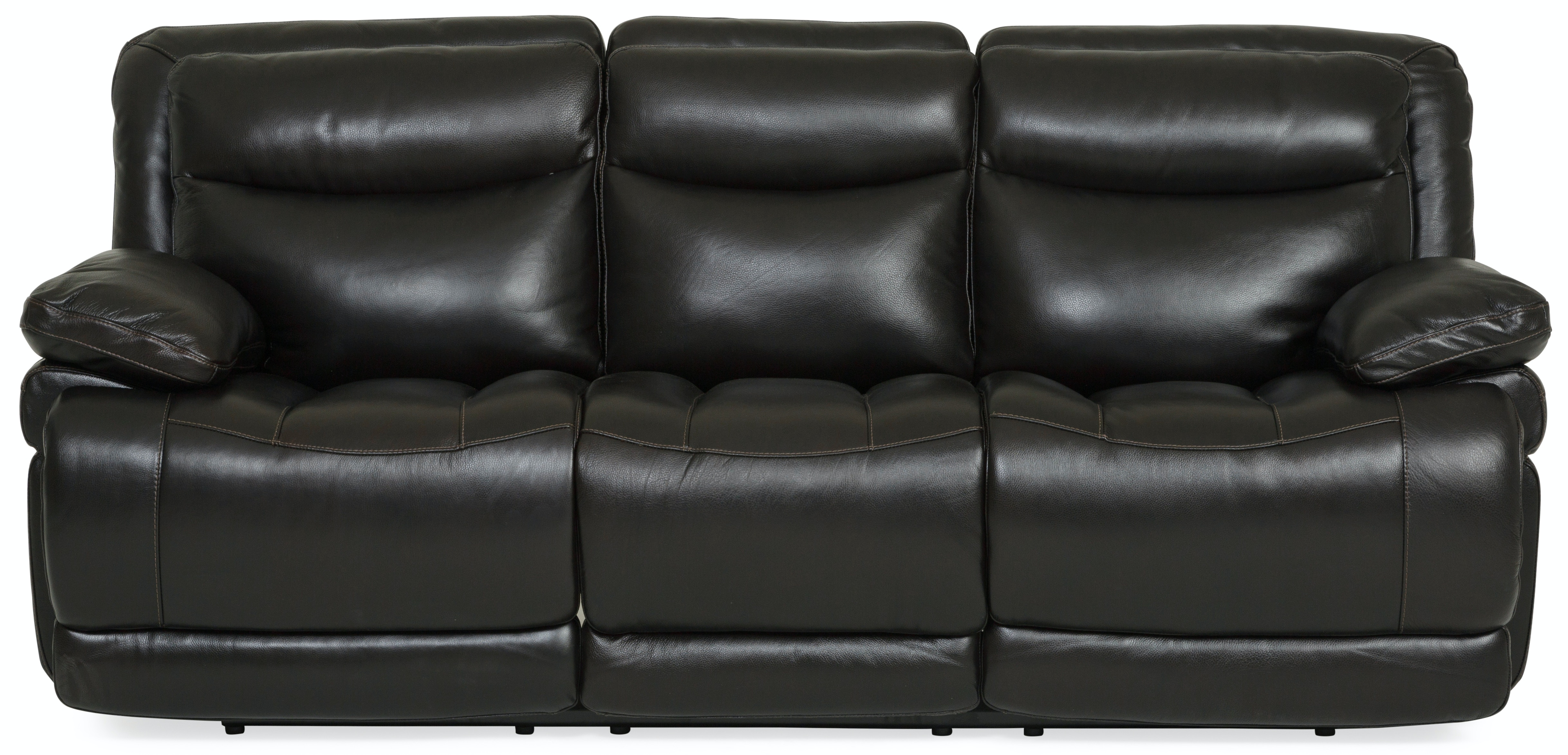Beautiful Longhorn Leather Power Reclining Sofa   BLACKBERRY ST:422713