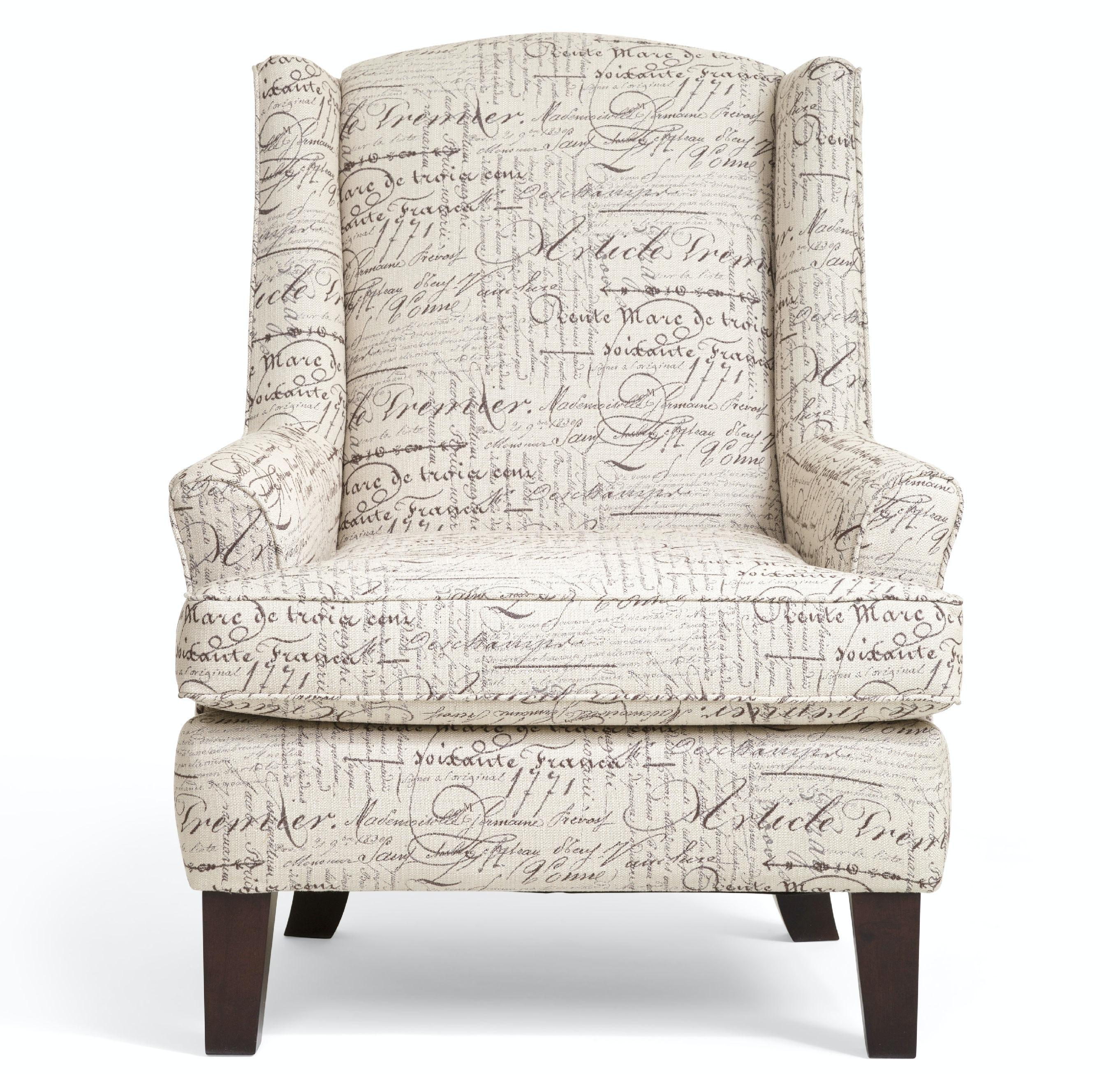 Andrea Script Wingback Chair ST:408601