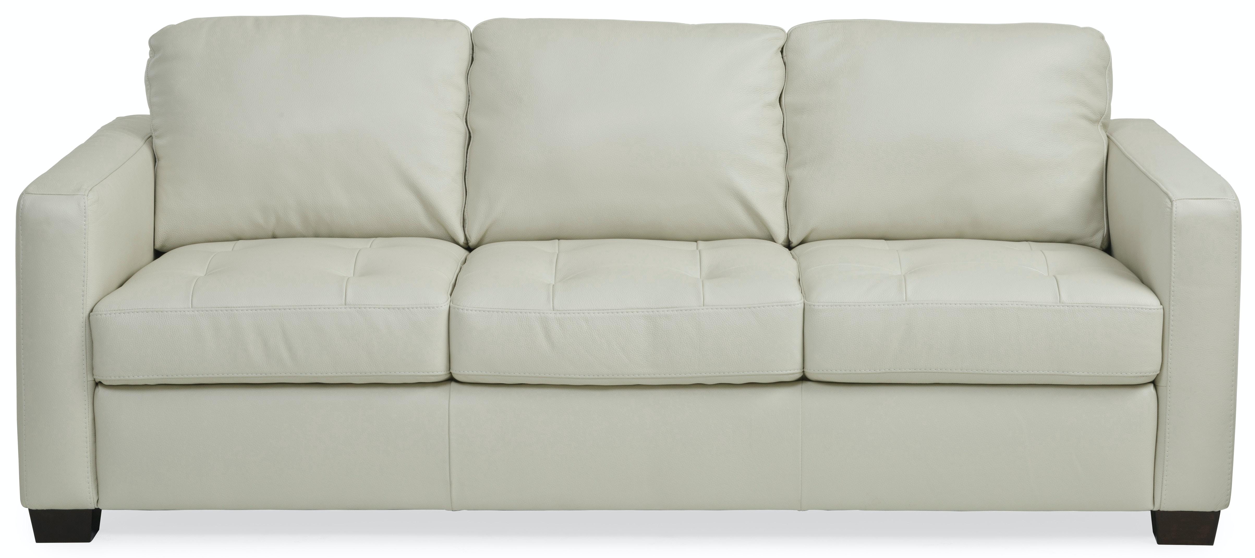 Bon Denver Leather Sofa   IVORY
