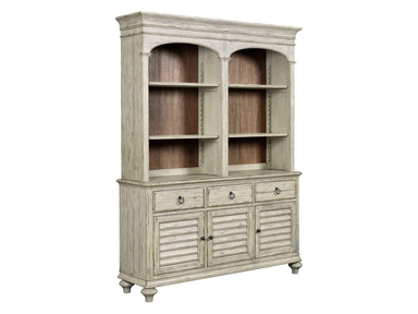 Weatherford Hastings Open Hutch and Buffet - CORNSILK