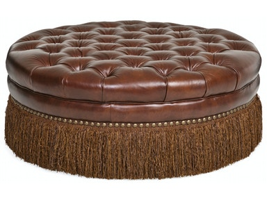 Becky II Cocktail 100% Leather Ottoman