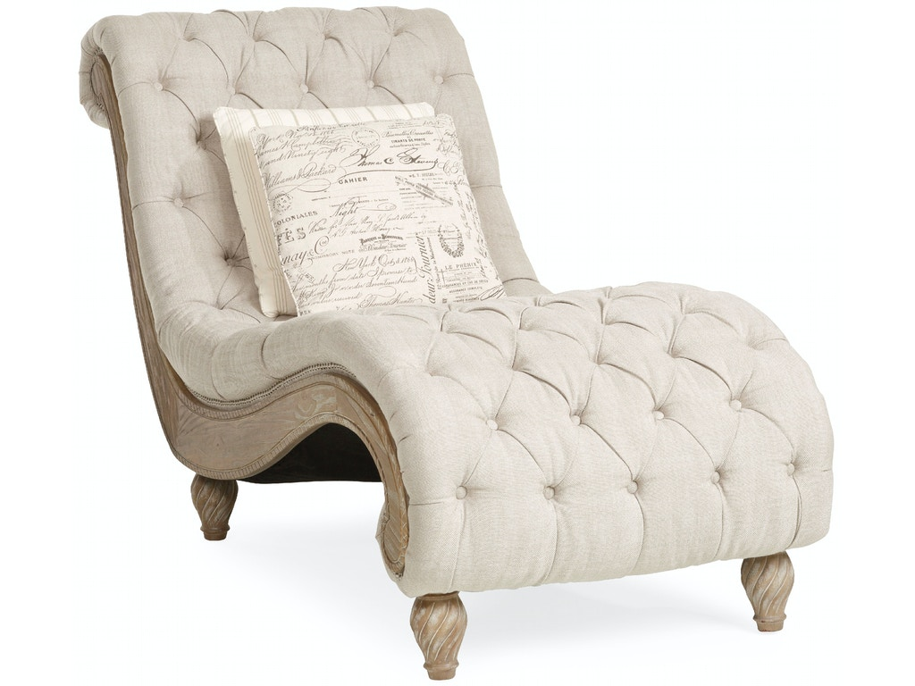 Living Room Chaises Living Room Dinah Tufted Chaise Linen
