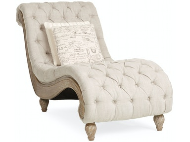 Dinah Tufted Chaise - LINEN