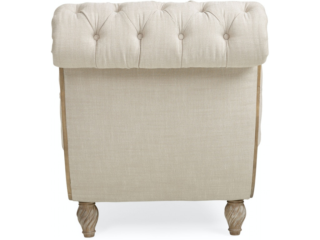 Bellagio classic tufted chaise lounge with ottoman by for Cameron tufted chaise