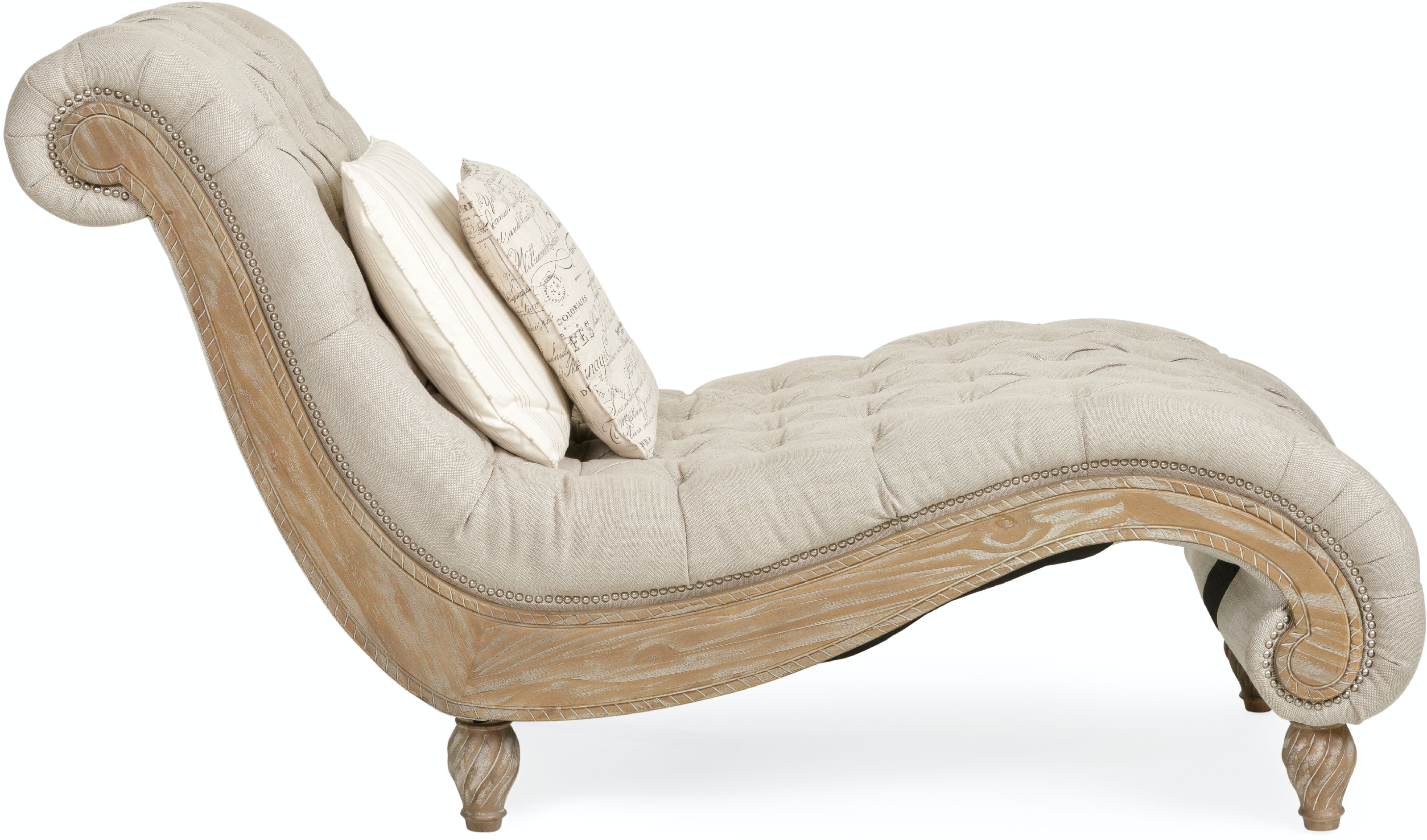 Living Room Dinah Tufted Chaise LINEN