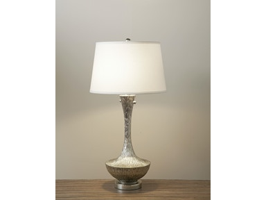 Embossed Silver Table Lamp