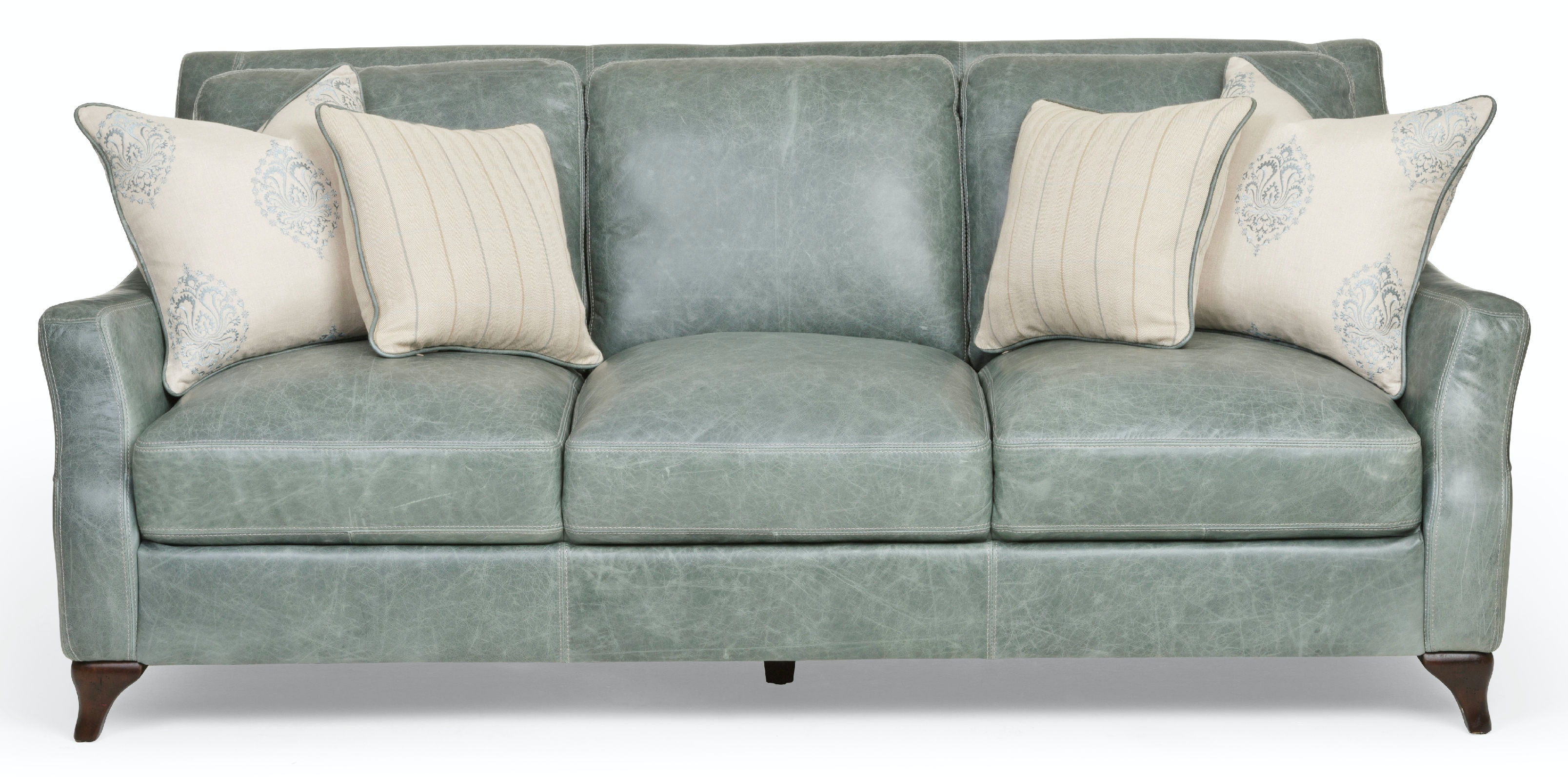silver lake leather sofa