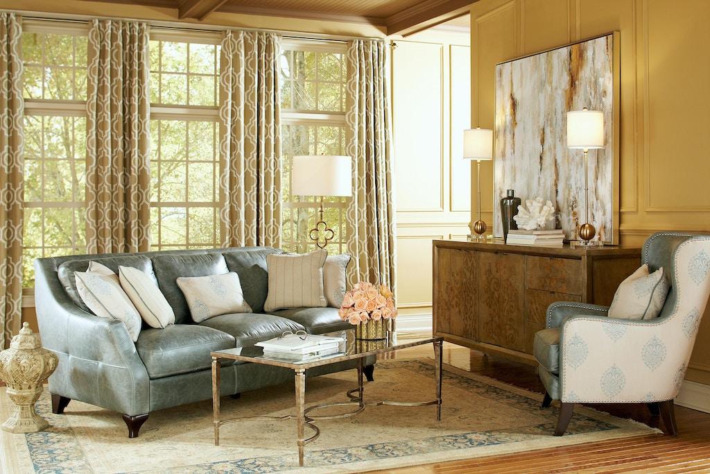 living room silver lake leather sofa