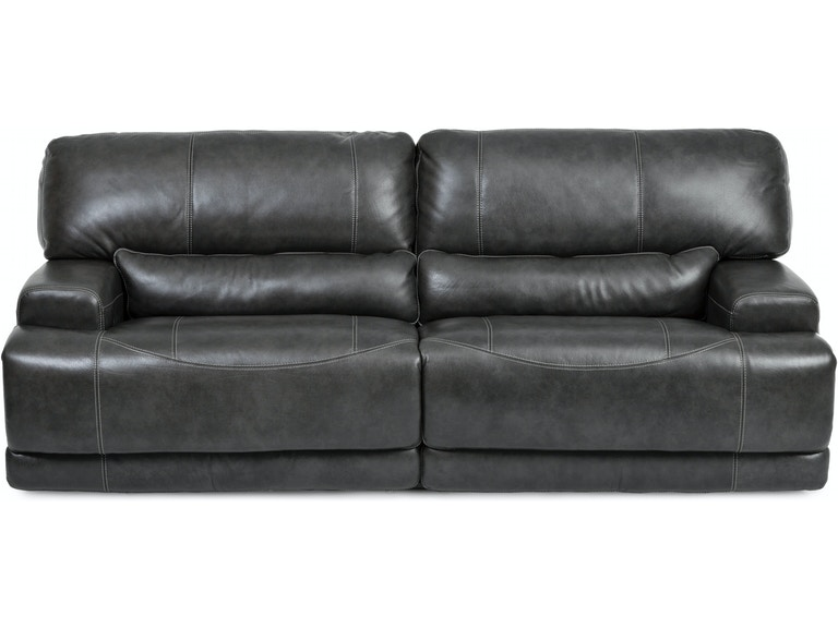 Living Room Stampede Leather Power Reclining Sofa Charcoal