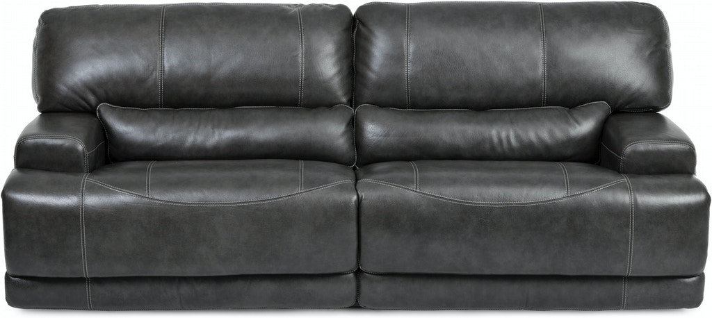 Stampede Leather Reclining Sofa Charcoal St 422613