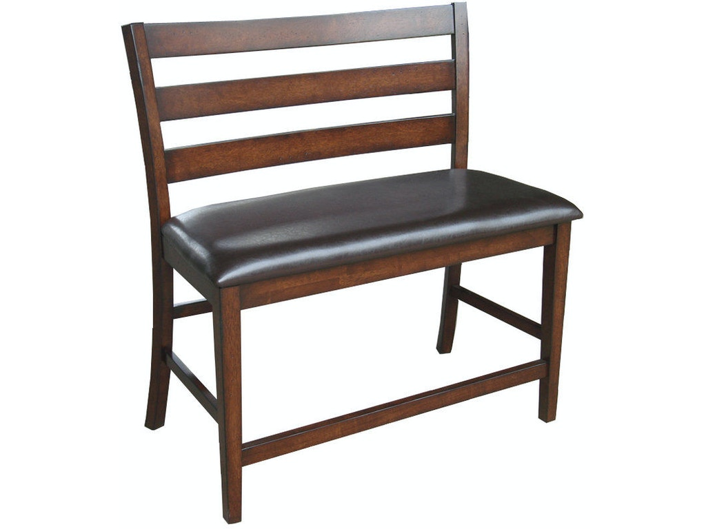 Dining Room Kona Counter Height Bench With Back