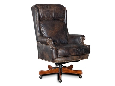 Old Saddle Fudge with Croc Accents Executive Swivel Tilt Chair
