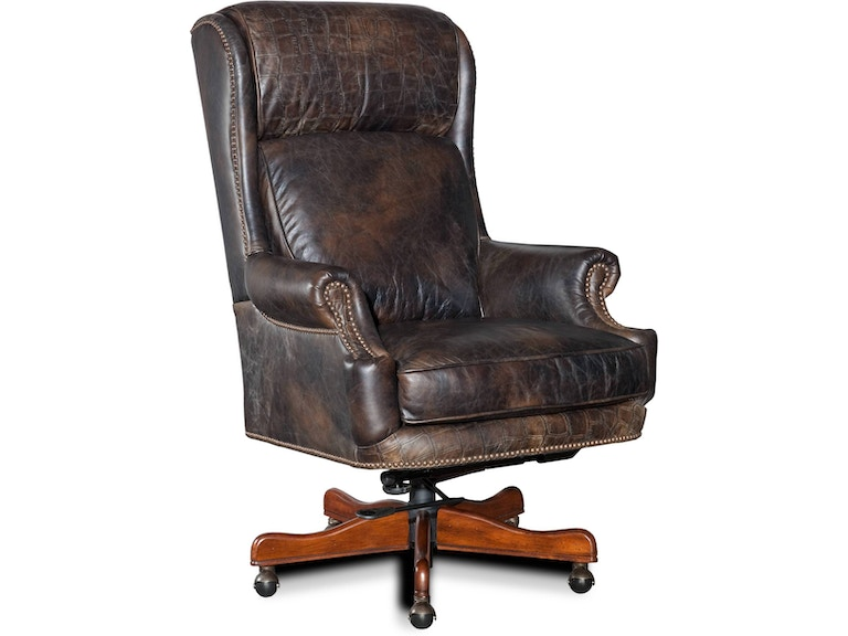 Old Saddle Fudge With Croc Accents Executive Swivel Tilt Chair St 378566