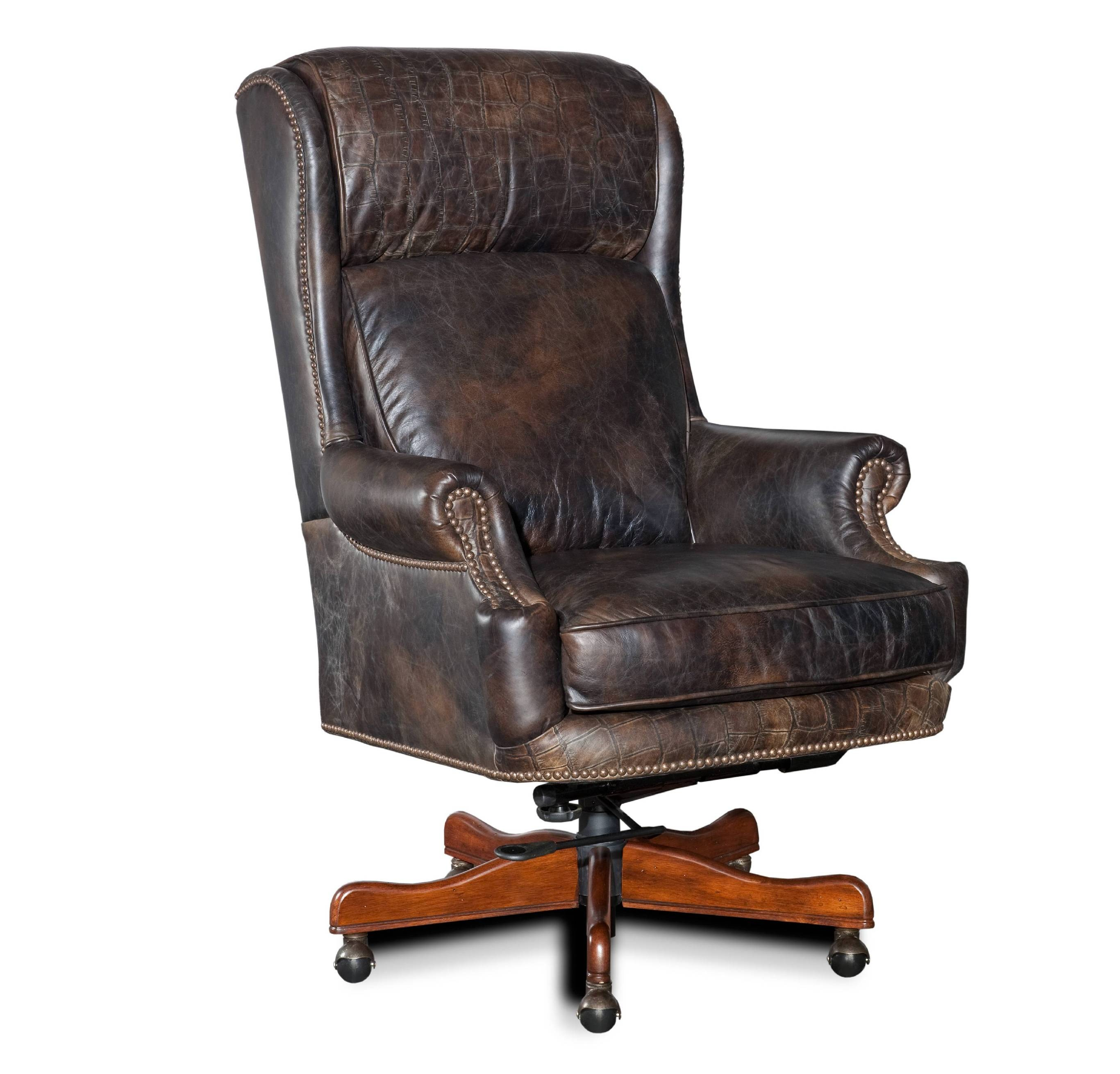 Old Saddle Fudge with Croc Accents Executive Swivel Tilt Chair ST378566  sc 1 st  Star Furniture & Old Saddle Fudge Desk Chair | Classic Luxury | Star Furniture