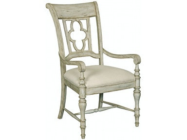 Weatherford Wood Back Arm Chair - CORNSILK