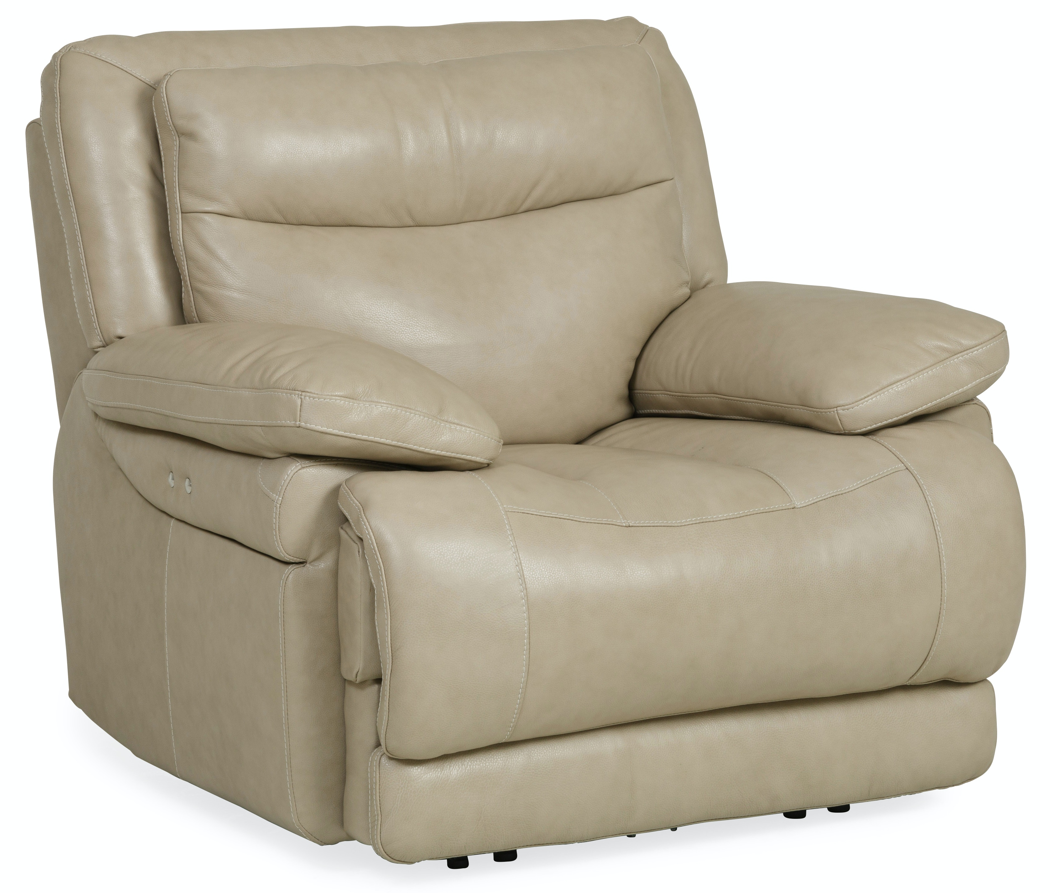 Longhorn Leather Power Recliner   WHEAT ST:436975