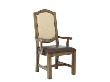 American Attitude Wood Frame Arm Chair
