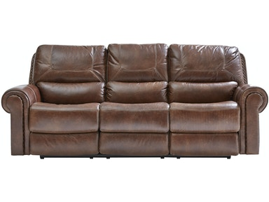 St. Charles Leather Power Sofa