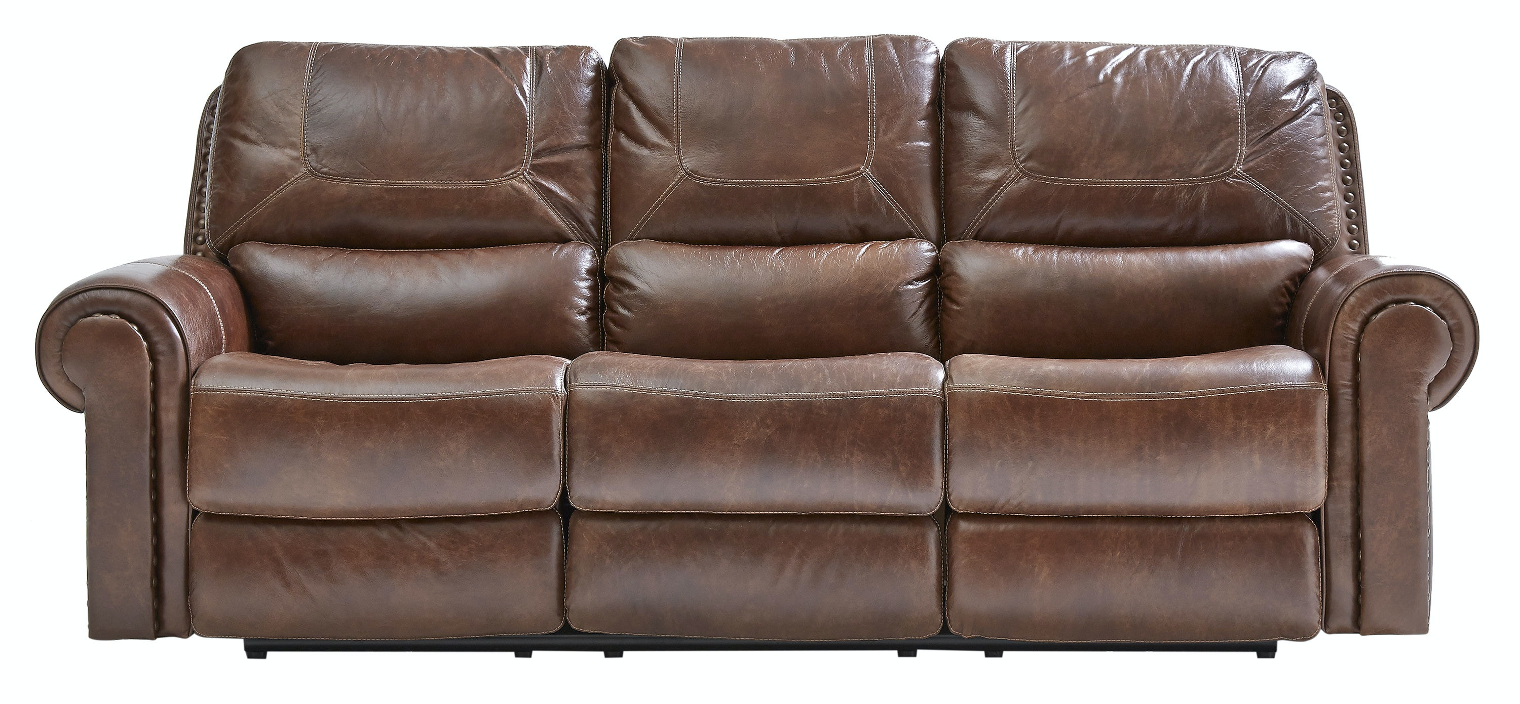 St. Charles Leather Power Sofa ST:439511