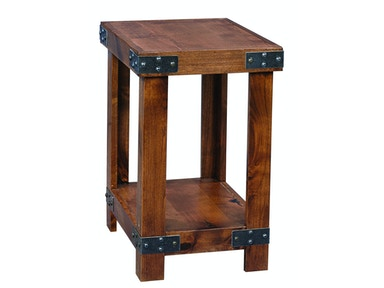 Rustic Alder Chairside Table