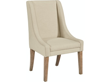 Magnolia Home - Demi-Wing Upholstered Side Chair - LINEN