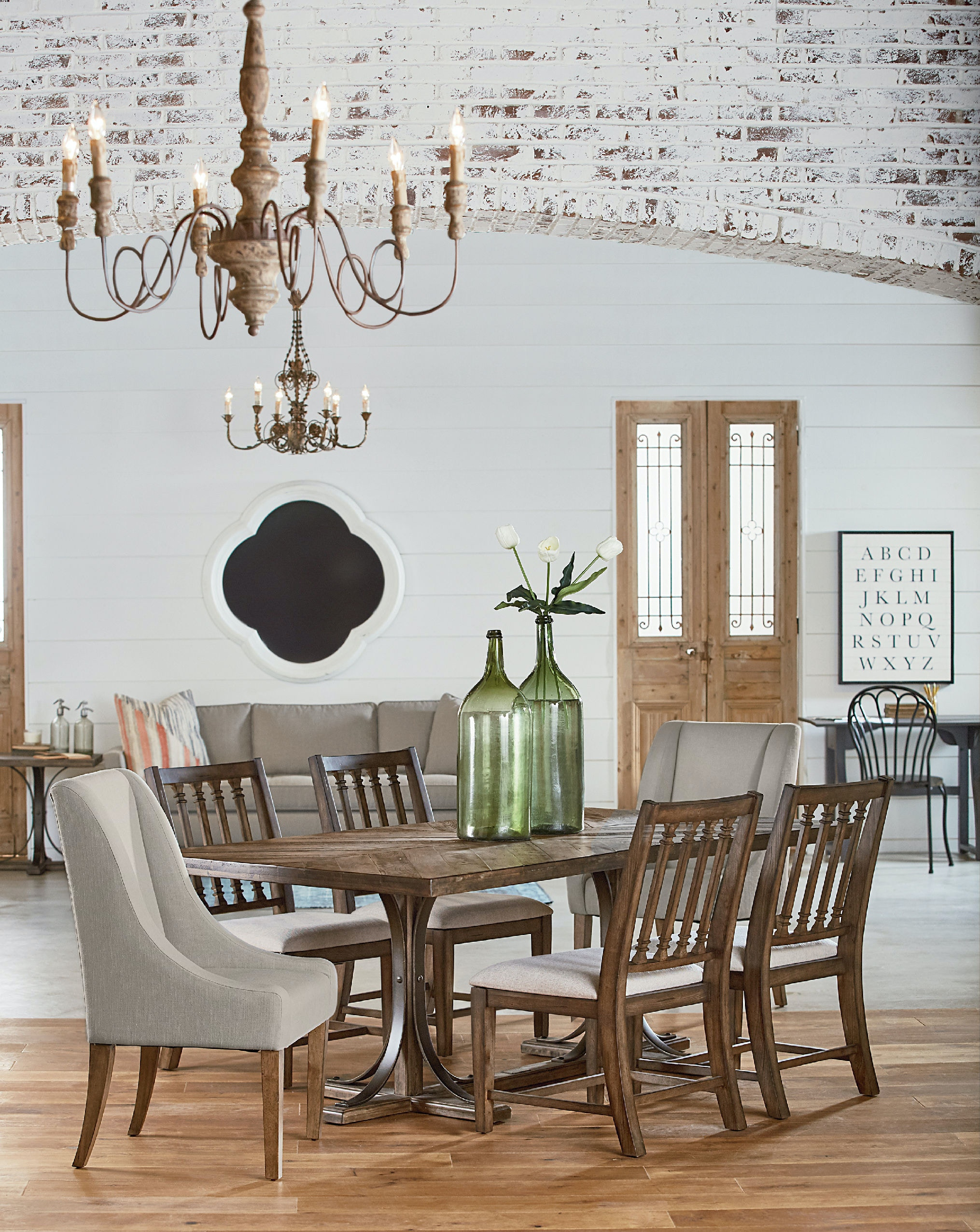 Dining Room Magnolia Home Iron Trestle Table For Joanna Gaines Ideas