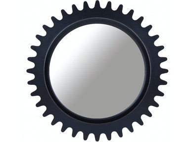 Williamsburg Round Mirror - BLACK
