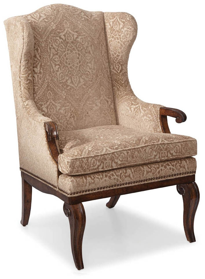 dining room continental wingback arm chair