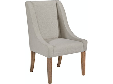 Magnolia Home - Demi-Wing Upholstered Side Chair - GREY FLANNEL