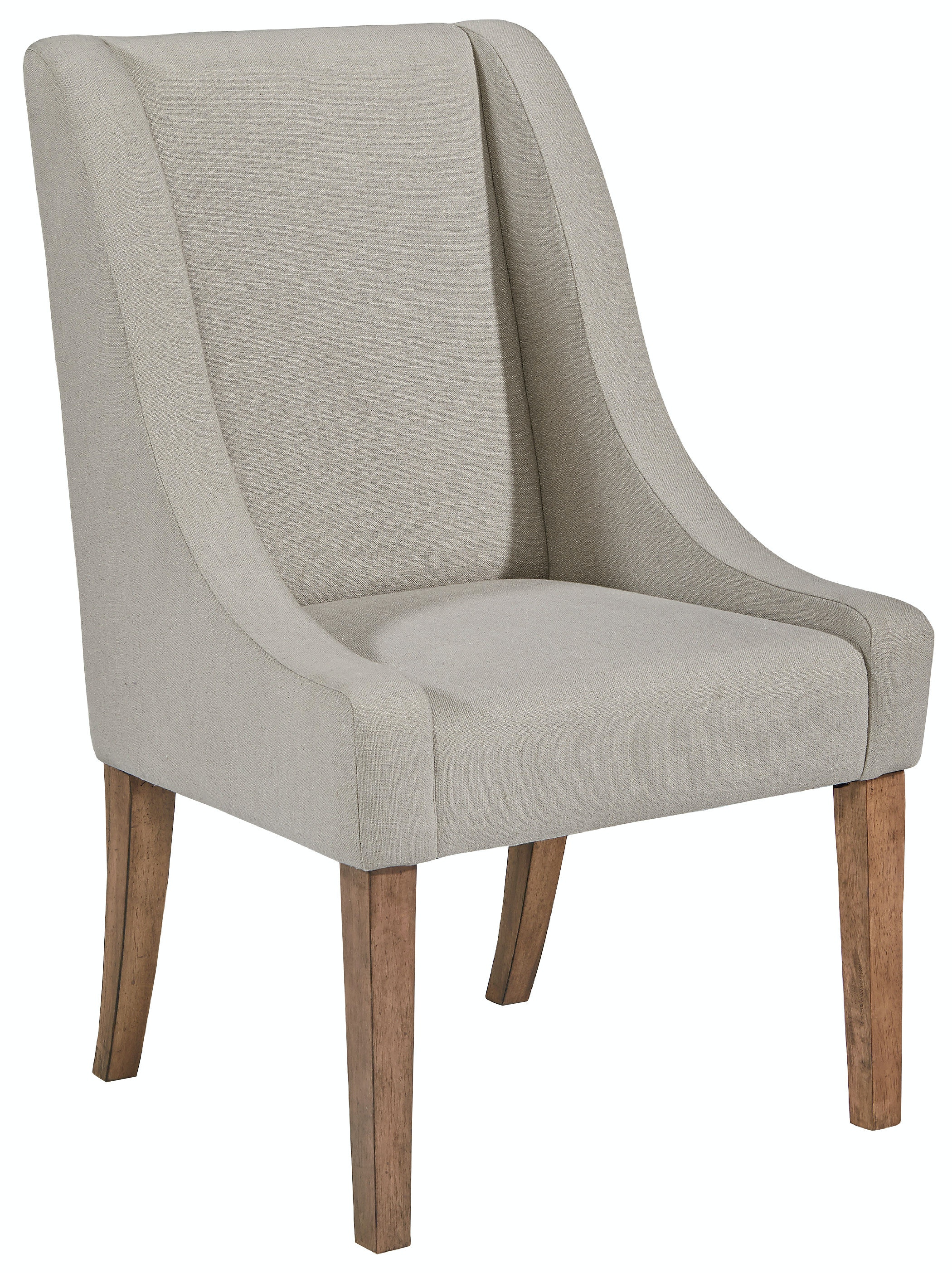 Magnolia Home   Demi Wing Upholstered Side Chair   GREY FLANNEL ST:463594