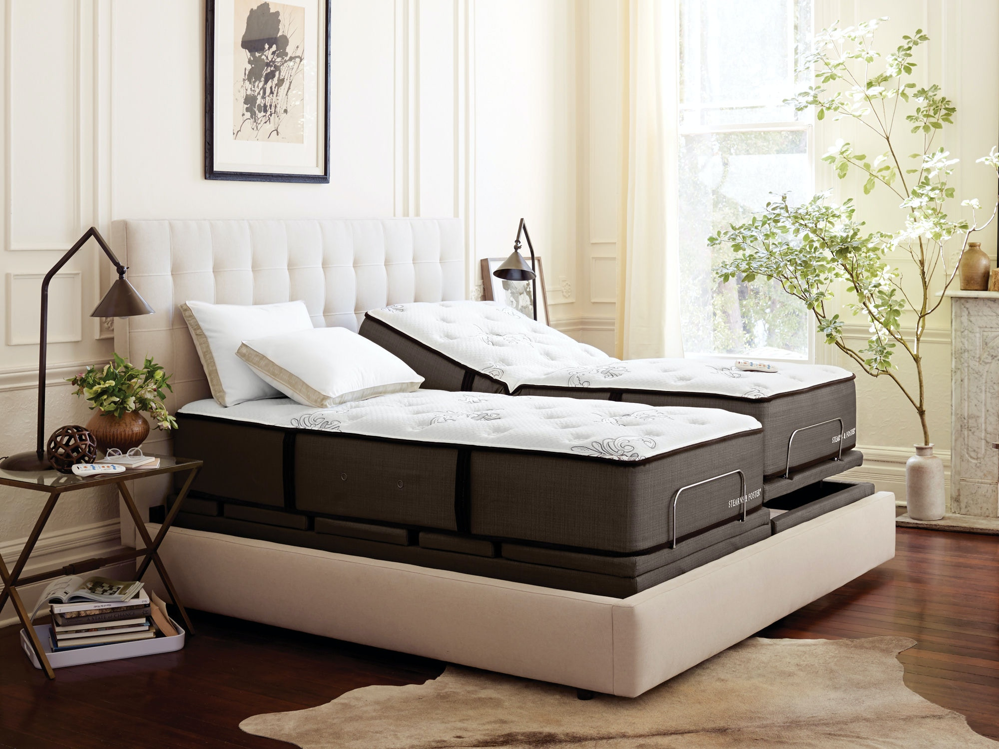 stearns and foster reflexion 7 adjustable base queen - Stearns And Foster Mattress