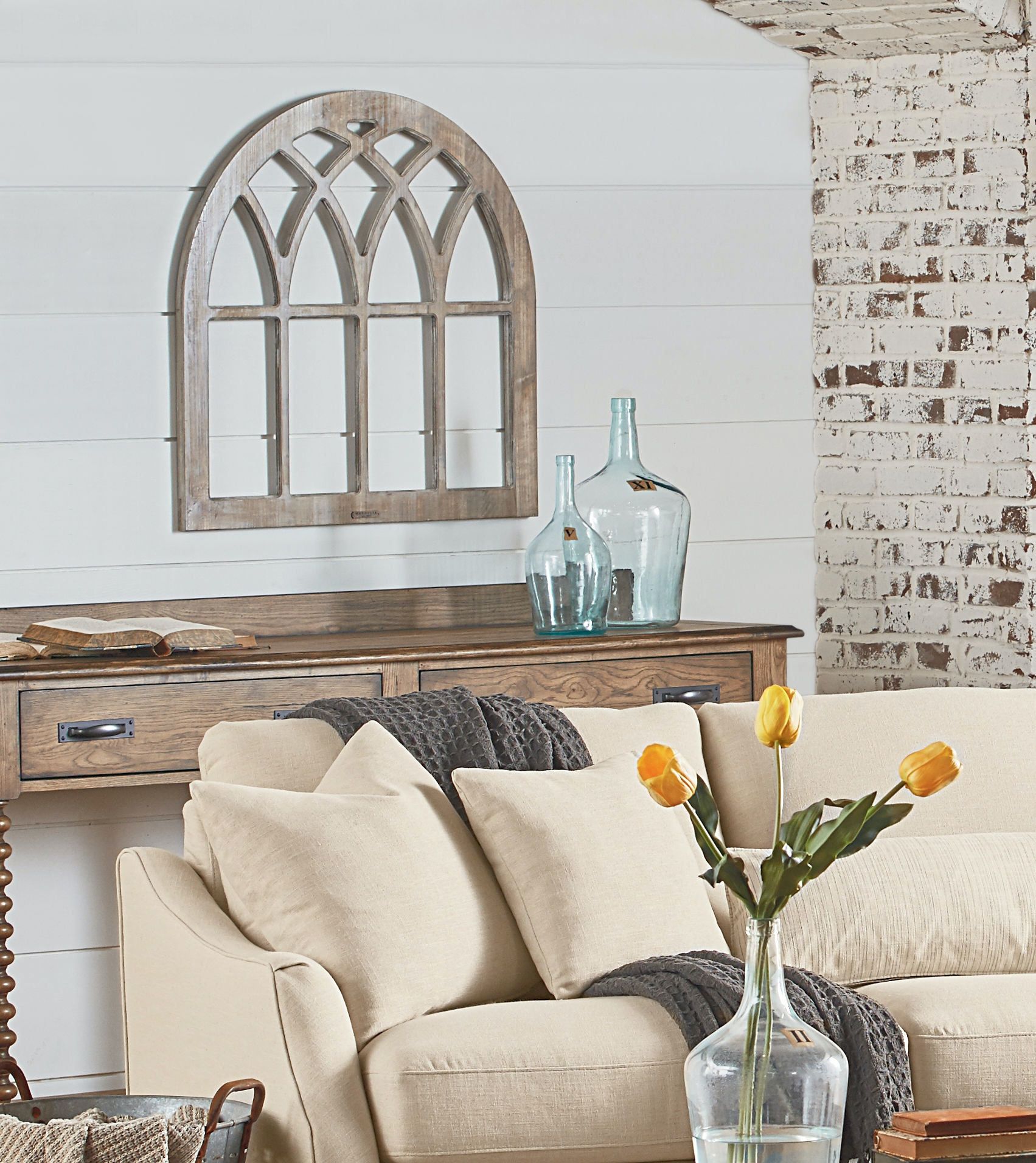 Magnolia Home Decor accessories magnolia home - cathedral window frame wall décor