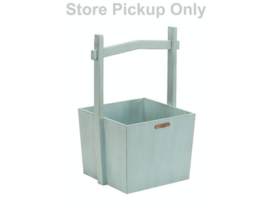 Magnolia Home - Wishing Well Wooden Basket - FRENCH BLUE