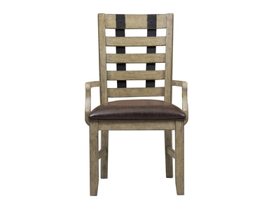 Flatbush Avenue Metal Strap Arm Chair
