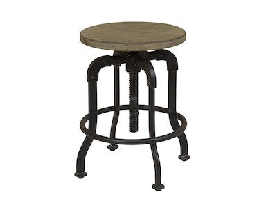 Flatbush Avenue Metal and Wood Adjustable Stool