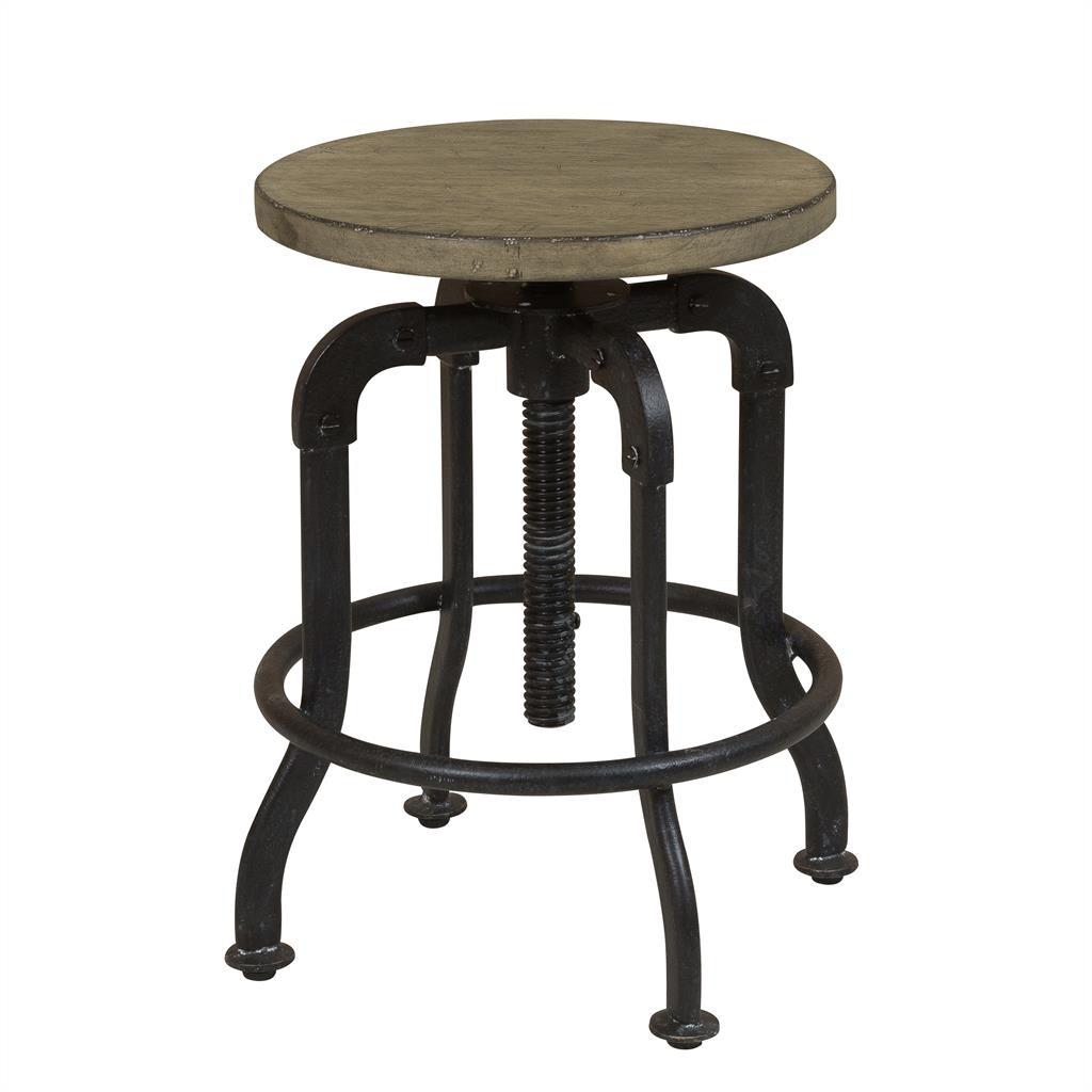 Superbe Flatbush Avenue Metal And Wood Adjustable Stool ST:467926