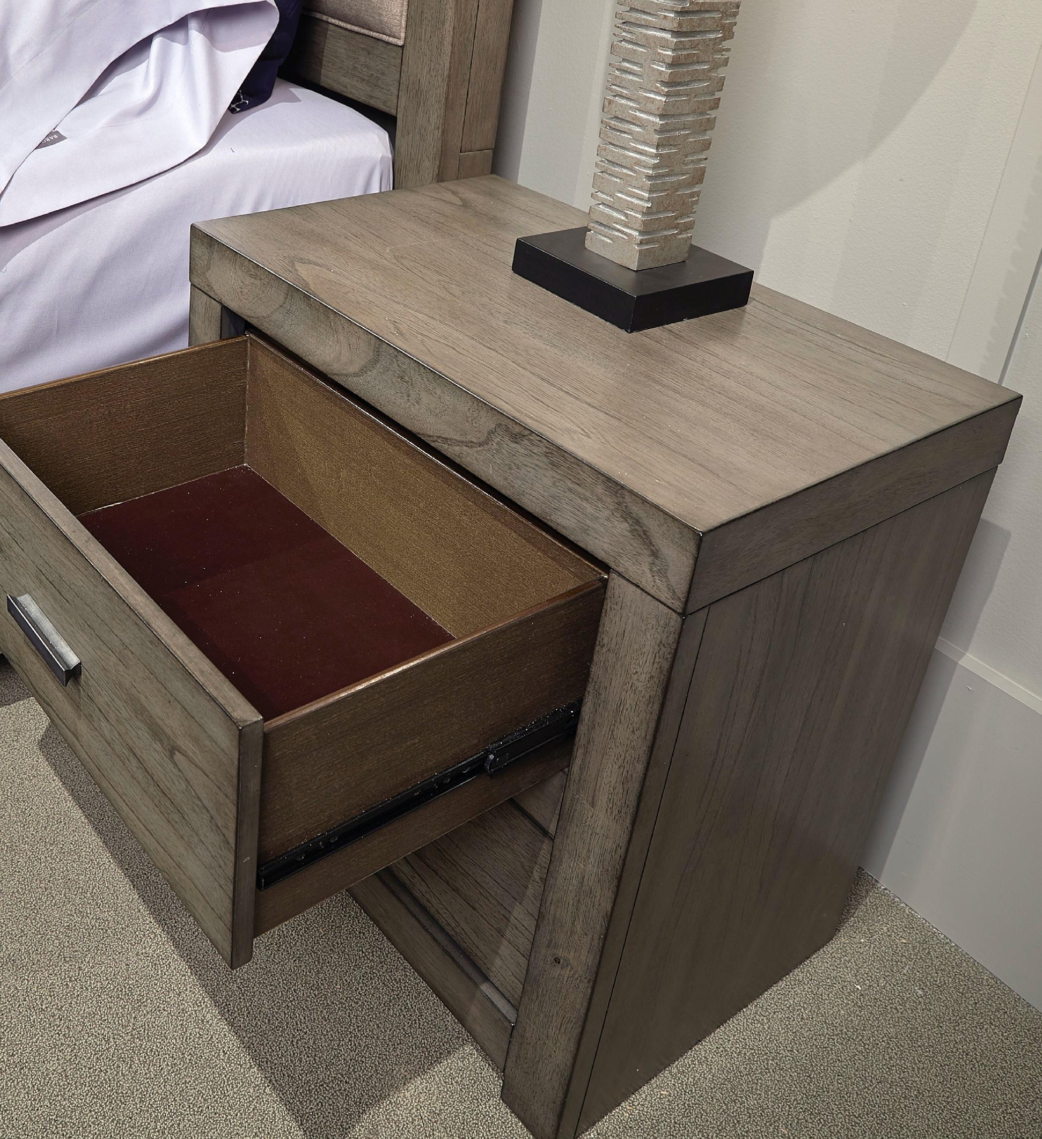 Modern Loft 2 Drawer Nightstand ST:473559
