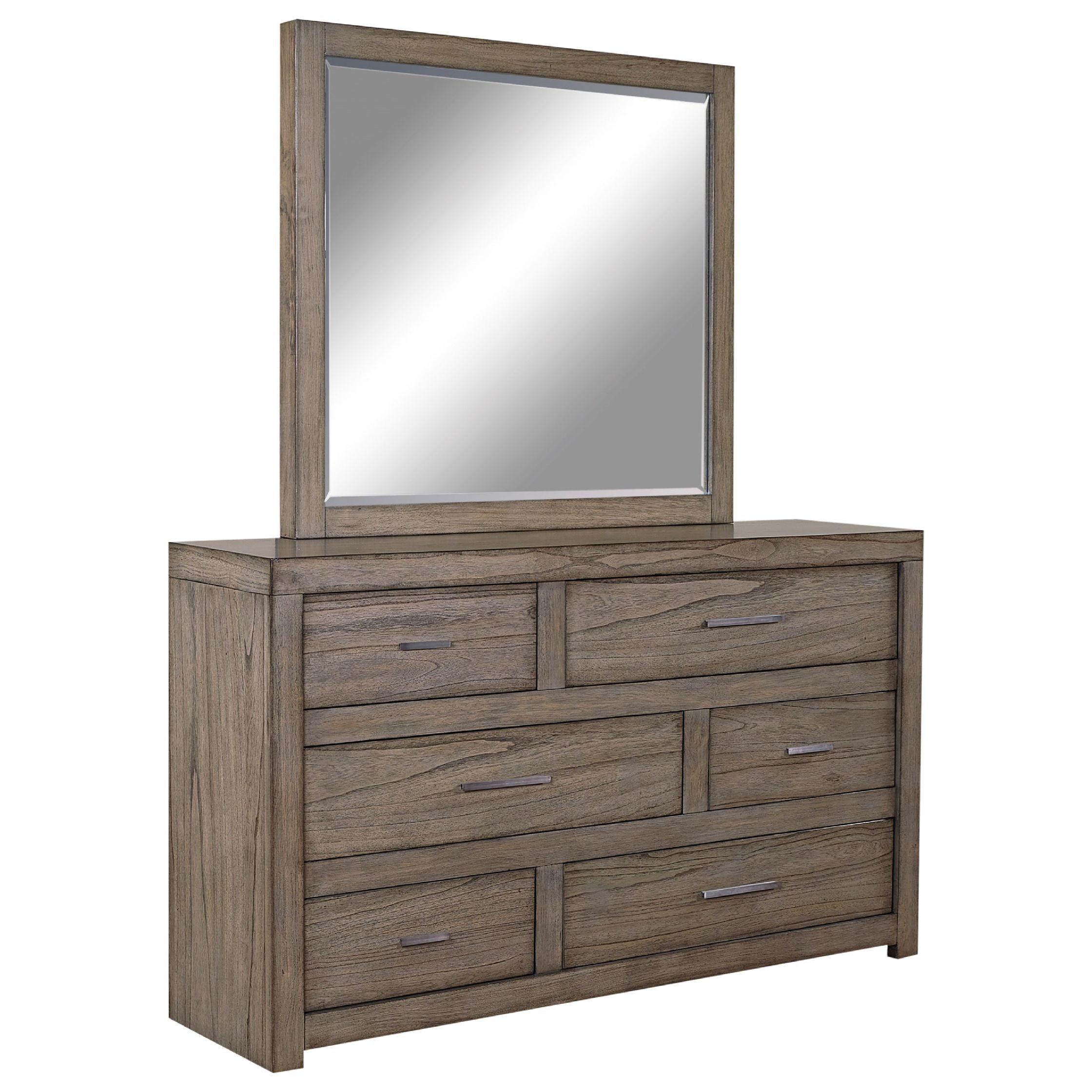 Beau Modern Loft Greystone 6 Drawer Dresser ST:473563
