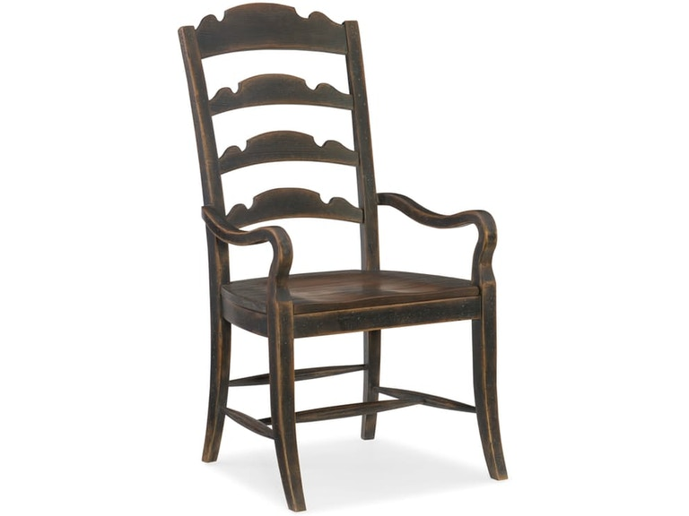 Hill Country Ladder Back Arm Chair St 474107