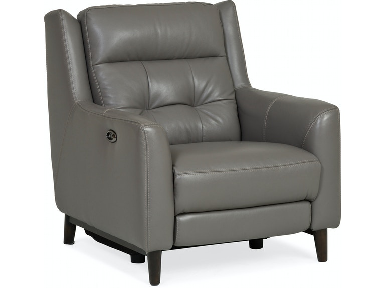 Living Room Timba Leather Power Recliner