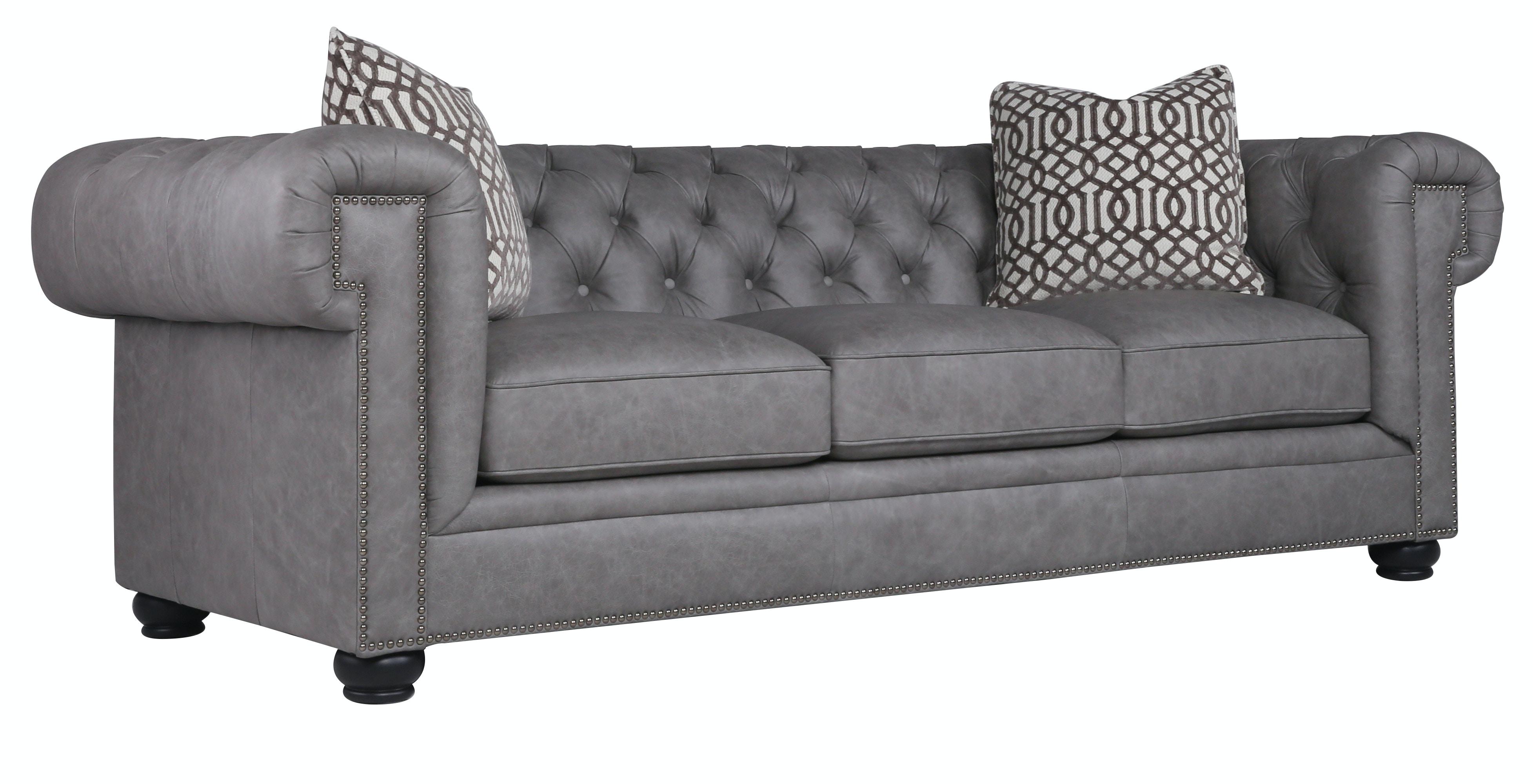 Emma Leather Sofa   FOSSIL