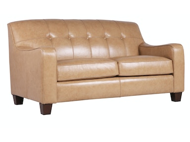 Josie Leather Loveseat - PECAN