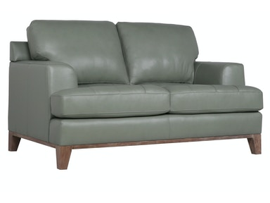 Jack Leather Loveseat - AQUA