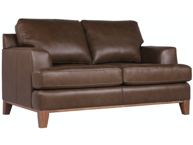 Jack Leather Loveseat - MOCHA